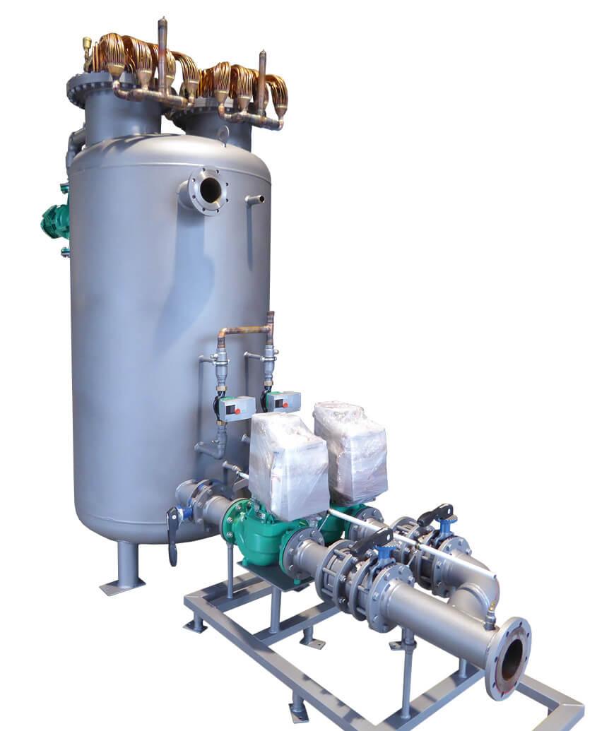 DK-Behälter mit Pumpenstation