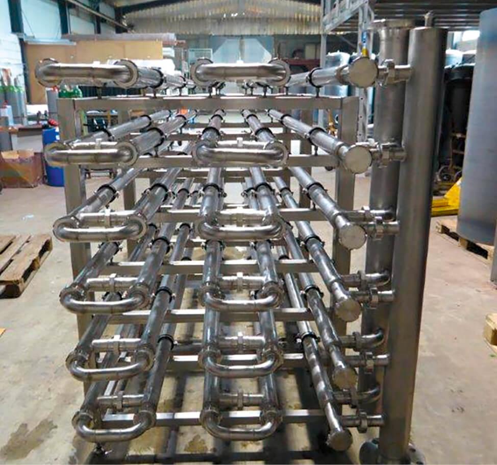 DK-Kaltwasserbereiter mit VA Doppelrohrkühler